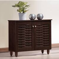Porch & Den Victoria Park Bontona Dark Brown 2-door Shoe Cabinet