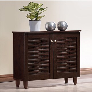 Strick & Bolton Vadym Dark Brown 2-door Shoe Cabinet