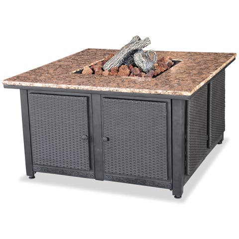 LP Gas Outdoor Firebowl with Granite Mantle