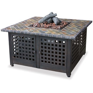 UniFlame Gas Fire Pit with Handcrafted Tile