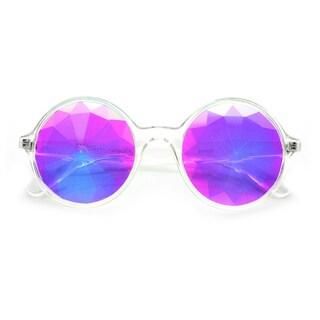 Adult Clear Kaleidoscope Sunglasses Costume Accessory