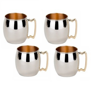Old Dutch Solid Copper16 oz. Unlined 'Inside-Out' Moscow Mule Mugs (Set of 4)