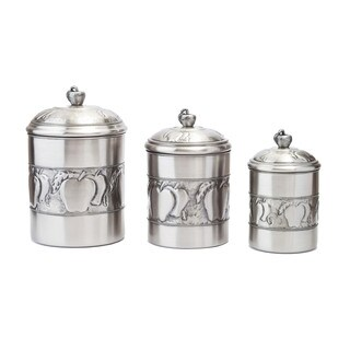 Antique Embossed Apple 3-piece Canister Fresh Seal Covers