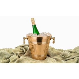 Solid Copper Wine Cooler with Brass Handles