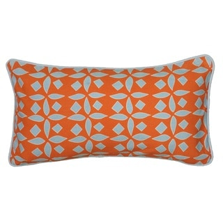 Rizzy Home Laura Fair Orange Geometric 11-inch x 21-inch Decorative Throw Pillow