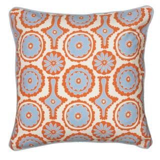 Rizzy Home Laura Fair Orange Geometric 18-inch Decorative Throw Pillow
