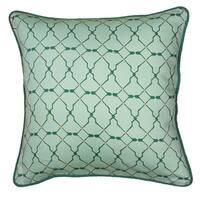Rizzy Home Laura Fair Green Stripe 18-inch Decorative Throw Pillow