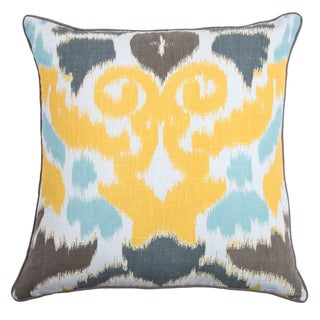 Rizzy Home Laura Fair Yellow Ikat 22-inch Decorative Throw Pillow