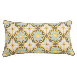 Rizzy Home Laura Fair Yellow Geometric 11-inch x 21-inch Decorative Throw Pillow