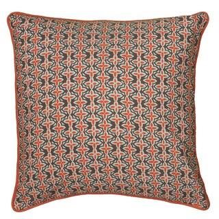 Rizzy Home Laura Fair Orange Stripe 22-inch Decorative Throw Pillow