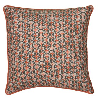 Rizzy Home Laura Fair Orange Stripe 22-inch Decorative Throw Pillow