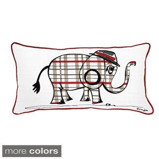 Rizzy Home Rachel Kate White Animal 11-inch x 21-inch Throw Pillow