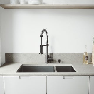 Nice VIGO All In One 29 Endicott Stainless Steel Double Bowl Undermount Kitchen  Sink Set