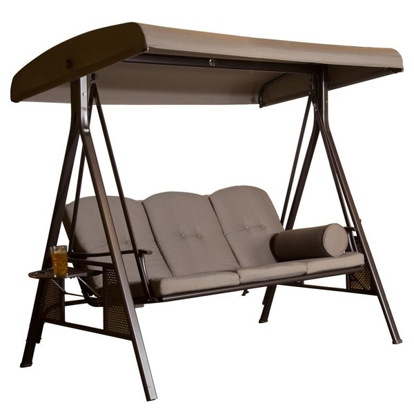 Shop Abba Patio 3 Seat Outdoor Polyester Canopy Porch