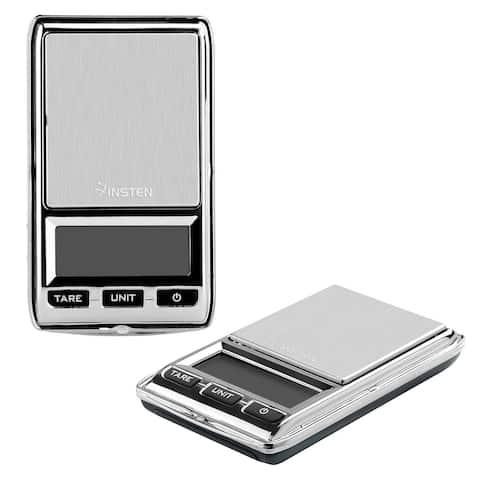 Insten Grey 0.01 - 500g Digital Pocket Scale with Leather Bag