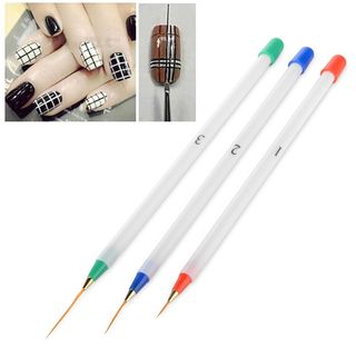 Zodaca 3-piece Set Nail Art Acrylic Drawing Painting Pen