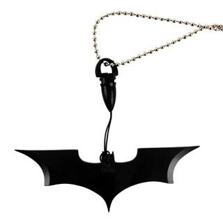 "Black Batman Necklace Knife Wuu Jau 4"" Bat Man Dark Knight Gotham Prop"