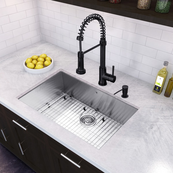 Beau VIGO All In One 30u201d Ludlow Stainless Steel Undermount Kitchen Sink Set With
