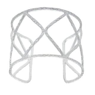 Silvertone Silverplated Cuff Bracelet (India)