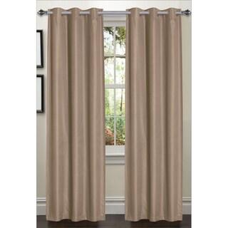 Luxury Dot Texture Faux Silk Blackout 84-inch Curtain Panel Pair