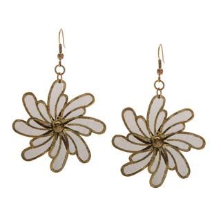 Goldtone Flowal Earrings (India)