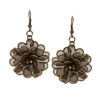 Floral Goldtone 3D Earrings (India)