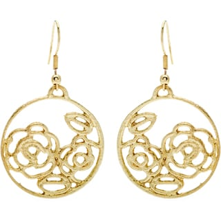 Goldtone Rose Earrings (India)