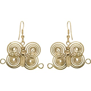 Goldtone Butterfly Earrings (India)