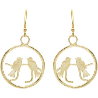 Bird Goldtone Earrings (India)