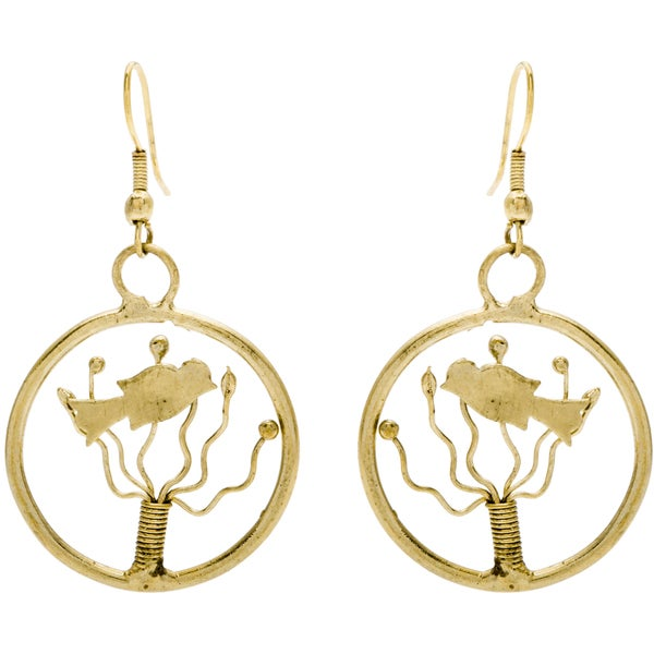 Handmade Goldtone Bird Earrings India Free Shipping Orders