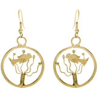 Goldtone Bird Earrings (India)