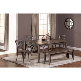 Hillsdale Furniture's Lorient Rectangle Dining Set in Washed Charcoal Grey