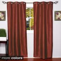 Faux Silk Blackout Grommet 84-Inch Curtain Panel Pair - 76 x 84