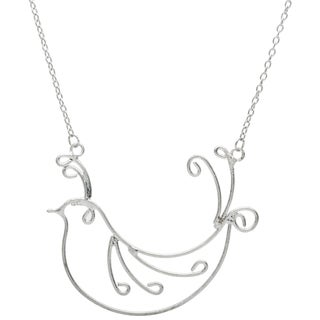 Silvertone Bird Long Necklace (India)