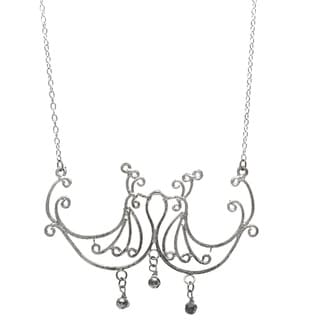 Silvertone Kissing Birds Necklace (India)