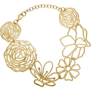 Goldtone Multiple Flower Bracelet (India)
