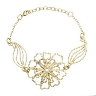 Goldtone Large Flower Bracelet (India)