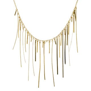 Handmade Goldtone Fringe Necklace (India)
