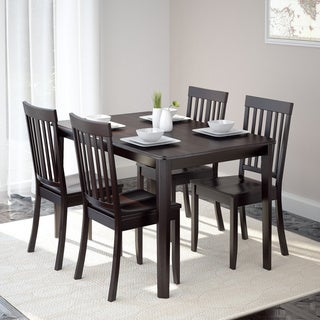 CorLiving DRG-695-Z5 Atwood 5-piece Dining Set with Cappuccino Stained Chairs