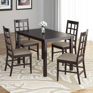 CorLiving DRG-595-Z4 Atwood 5-piece Dining Set with Taupe Stone Leatherette Seats