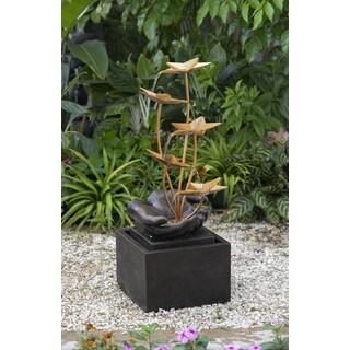 Multi-tier Metal Flowers Fountain