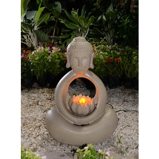 Buddha Water Fountain with LED Light