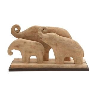 Wood Elephant Family