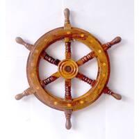 Brown Ship Wheel