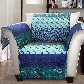 Lush Decor Royal Empire Armchair Peacock Furniture Protector Slipcover