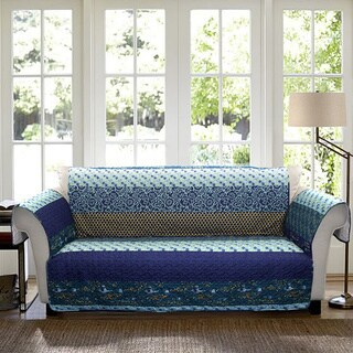 Lush Decor Royal Empire LoveSeat: Peacock Furniture Protector Slipcover