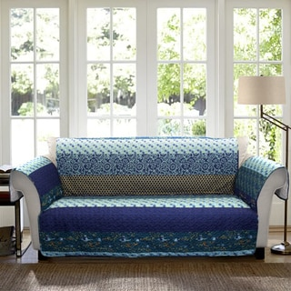 Lush Decor Royal Empire Sofa Peacock Furniture Protector Slipcover