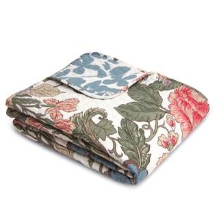 Lush Decor Sydney Green/ Blue Throw Blanket - Thumbnail 0