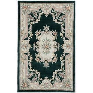 Hand-tufted Floral Green Accent Rug (2' x 4')