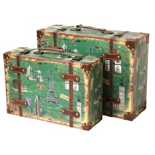 Vintage Style European Luggage Suitcase (Set of 2)
